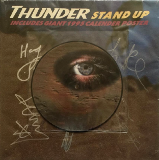 "THUNDER - Stand Up (7"") (Picture Disc) (Signed) (VG/VG+)"